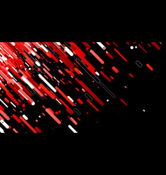 Red abstract background on black vector