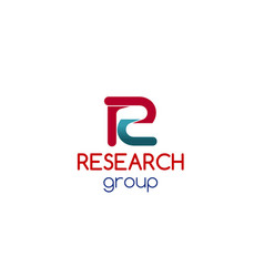 research group sign vector image