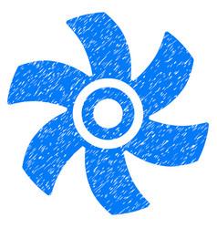 Rotor grunge icon vector