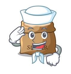 Sailor sugar with scoop cartoon in sack vector