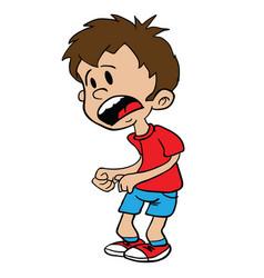 Scared little boy vector