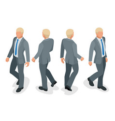 set of businessman man on white background vector image