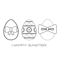 Set of flat icons Easter eggs vector image