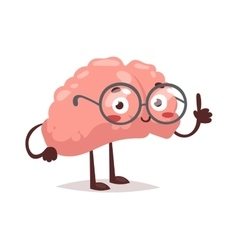 Smart brain character vector