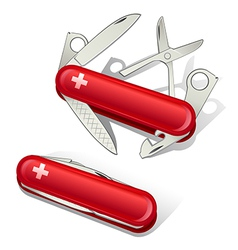 Swiss Knife Tools Icons vector
