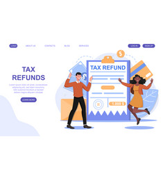 Tax refund and return declaration approved concept vector