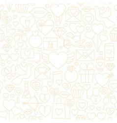 Thin Valentine Day Line Seamless White Pattern vector