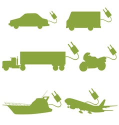 transport vehicle green vector image