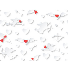 valentines day card design on seamless background vector image