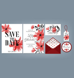 wedding floral template collection vector image