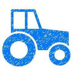 Wheeled tractor icon grunge watermark vector