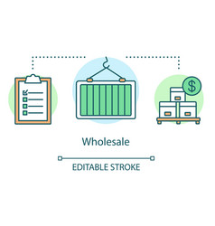 Wholesale concept icon warehouse idea thin line vector