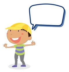 a boy and call out vector image