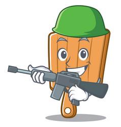army kitchen board character cartoon vector image vector image