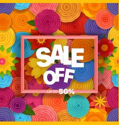 season sale off concept background vector image vector image