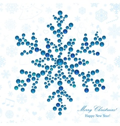 Snowflake made of beads vector image