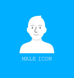 user male icon vector image vector image