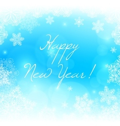 White snowflakes new year background vector image