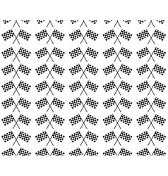 crossed waving black and white checkered flags vector image vector image