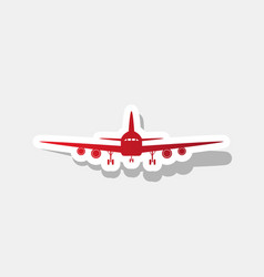 flying plane sign front view new year vector image
