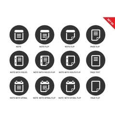 Note icons on white background vector image