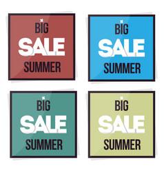 set big sale summer banner vector image