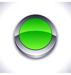 Glossy 3d button vector image vector image