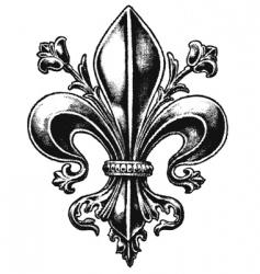 ornate fleur vector image