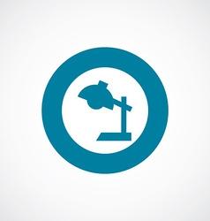 reading-lamp icon bold blue circle border vector image vector image