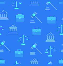 Seamless pattern with law symbols on background vector