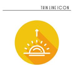 sun line simple icon weather symbols sunrise vector image vector image