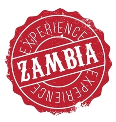 Zambia stamp rubber grunge vector image vector image