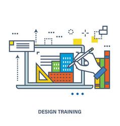 concept of creative design vector image