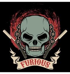 furious vector image