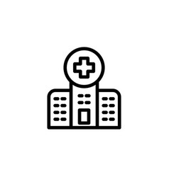 line hospital icon on white background vector image vector image