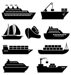 Ship icon set vector image vector image