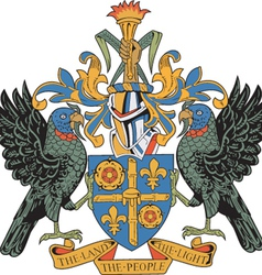 St Lucia Coat-of-arms vector image vector image