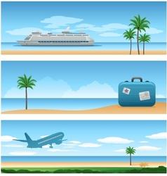 travel around the worl background vector image