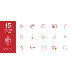 15 refresh icons vector image