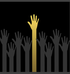 a lot of hands vector image
