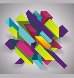 Abstract background with 3d figures vector