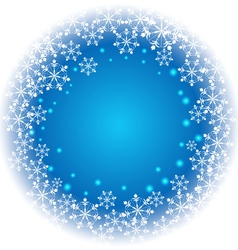 Abstract Snowflakes on blue background vector image