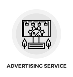 Adverting Service Icon vector image