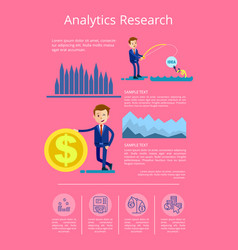 analytics research data vector image