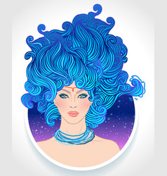 Aquarius astrological sign as a vector
