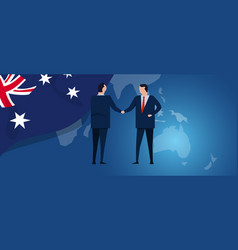 australia international partnership diplomacy vector image