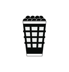 Basket with golf balls icon vector image
