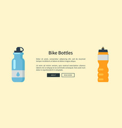 Bike bottles set web page vector