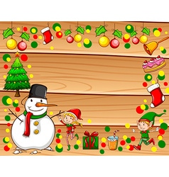 Border with christmas theme vector