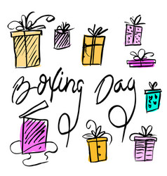 boxing day sale design vector image